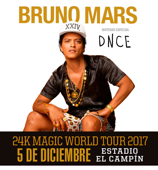 Bruno Mars 24K Magic World Tour 2017